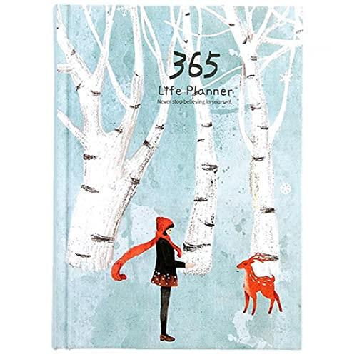365 Días Escolares Lista De Oficina Cuaderno del Diario del Planificador Interior Colorido Página del Cuaderno Diario Semanal Planificador Anual Agenda De Escritorio
