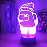 3D Game Bedside Night Light For Among us Cursor RGB Colors LED Table Desktop Lamp Home Party Holiday Atmosphere Decor Xmas Gift-C_Black_Lamp_Base_16_Color_with_Remote_China