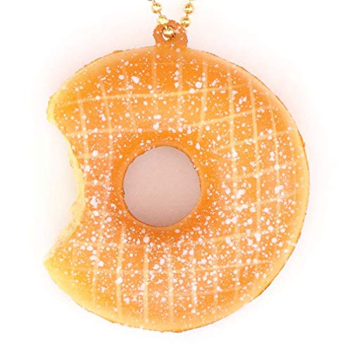 Kawaii Süßer angebissener Puderzucker Donut Cafe de N Squishy Anhänger Handyanhänger
