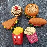 3D simulierte Burger Fries Kühlschrank Magnete Home Decoration Office Whiteboard Foto Aufkleber Starke Neodym Kühlschrank Magnet