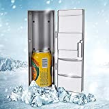 GOTOTOP Compacto Mini USB Multifuncional 2 en 1 Refrigerador Congelador Enfriador Calentador para Bebida de Latas Cerveza para Uso de Viajar en Automóvil o Oficina
