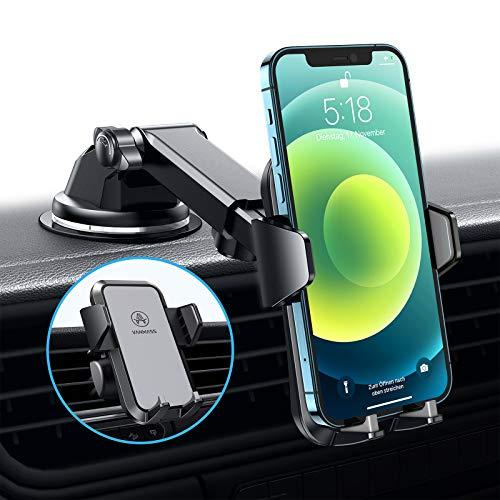 VANMASS Handyhalterung Auto 3 in 1 Lüftung & Saugnapf Stabil 100{5fa1669016a774d9c3053aa05bca5e1848ed52ed62561b6eb38b5d308a6c1417} Slilikonschutz Handyhalter Fürs Auto Universale Kfz Handyhalterung 360°Drehbar Autohalterung Für Alle Handy iPhone Samsung Huawei LG
