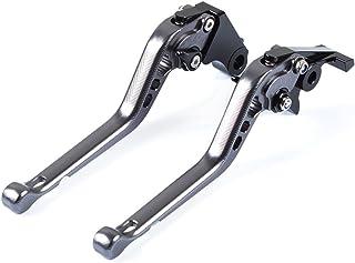 FZ6R 2009-2015 XSR900 ABS 2016-2017 Tencasi Black Foldable Extendable Adjustable Brake Clutch Lever for YAMAHA FZ6 FAZER // S2 2004-2010 XSR700 ABS 2016-2017