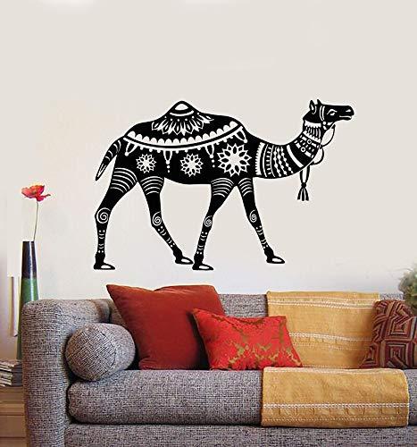 Ofomox Calcomanías de Vinilo para Pared decoración del hogar Sala de Estar Dormitorio Art Deco Milán Estilo Camello Desierto Pegatinas de Animales Pegatinas de pared42x64cm