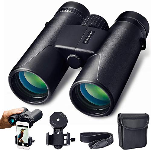 10x42 Binoculars for Adults - Professional and Powerful Binoculars with Long Range. Lightweight and Water Resistant, BaK4 and FMC prisms. Ideal for Birding, Hunting, Hiking, Astronomy and Camping.