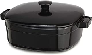 KitchenAid Streamline Cast Iron 6-Quart Casserole Cookware - Onyx Black