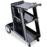 Eastwood 3-Tier Welding Cart Mig Welder Portable Heavy Duty for Plasma Cutter TIG Arc with Tank Storage Trolley Workshop Organizer