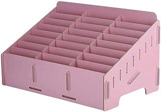 JJZXD Wooden Cell Phone Holder Desktop Organizer Storage Box for Classroom Office