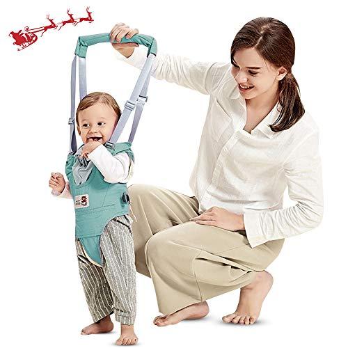 Arnés de Seguridad para Caminar Ajustable Arnés de Bebe a Pie de Caminado Aprendizaje Chaleco Arneses para Niños Andador Arnés Tirantes Con Correa y Hebilla de Bebé Protección 8-24 meses (Verde)