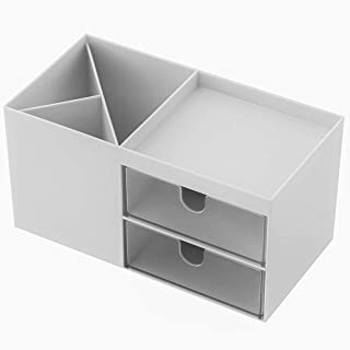 Storage Box • Makeup Organizer • Desk Organizer • Pen Holder • Makeup Case • Drawer Organizer (White)