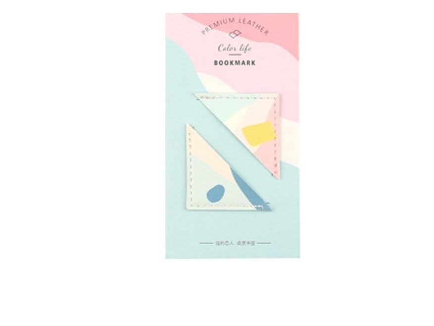 批判する墓誰でもFenBuGu-JP 学生教師 2Pcs / Setカラフルなコーナーブックマークレザー三角のブックマークオフィススクールノートブック