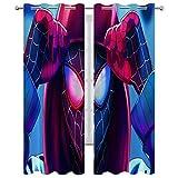 Gardinen für Wohnzimmer, Cartoon-Comic-Comic-Spider-Man, cooler Avatar-Thermo-Verdunklungsvorhang, 140 x 183 cm