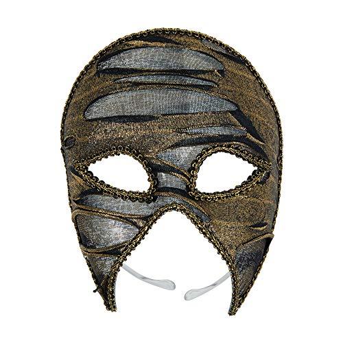 Bristol Novelty EM812 - Máscara de ojos para adultos, color dorado y negro