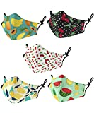 5-Pack Cloth Face Mask for Adult and Kids | Printed Designs,...