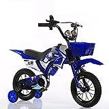 LSJ SHOP Bicicletas para niños, Motos, Bicicletas para niños, Bicicletas de montaña para niños, Motos para niños (tamaño múltiple Opcional) (Color : Blue, Size : 18 in)