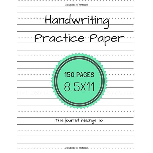 Lined Paper for Handwriting Practice: Amazon com
