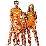 Conjunto de pijama Family para dormir largo, conjunto de dos piezas, camiseta de manga larga y pantalones para Halloween, 01#dad, XL