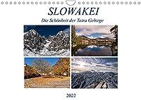 Slowakei - Die Schoenheit der Tatra Gebirge (Wandkalender 2022 DIN A4 quer): Die schoensten Seiten der Slowakei in einem Streifzug durch die Jahreszeiten. Erleben Sie unter anderem den Winter an der Hohen Tatra, das Slowakische Paradies im Sommer, die Stadt Neusohl und vieles andere mehr. (Monatskalender, 14 Seiten )