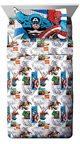 Marvel Comics 'Good Guys' Microfiber Sheet Set, Twin