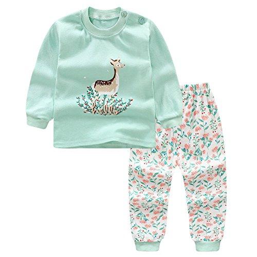 Blaward Blaward Zweiteilige Schlafanzüge Langarm für Baby Jungen Mädchen Baumwolle Schlafanzugoberteile Schlafanzughosen Pajama Sets 0-5Jahre