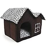 Luxury High-End Double Pet casa marrón para perro 55 x 40 x 42 cm