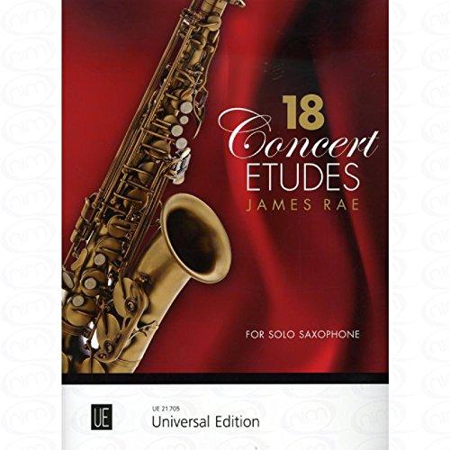 18 concert etudes - arrangiert für Saxophon [Noten/Sheetmusic] Komponist : RAE JAMES