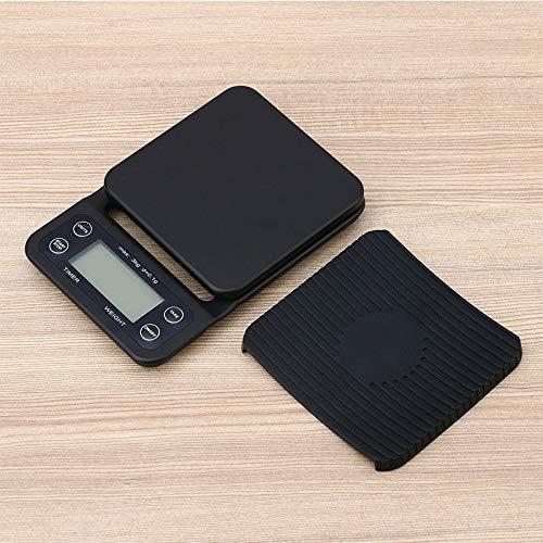 Nobrand AA Koffieweegschaal beweegbaar High Precision LCD Display 3 kg 0,1 g elektronische koffieweegschaal met digitale keuken-timer Barista-Tools 0303