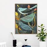 Animales pájaros ruiseñor decoración retro lienzo creativo arte estilo pintura impresión imagen cartel pared arte decoración del hogar 30x45 cm