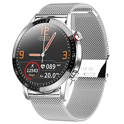 Smartwatch Orologio Fitness Uomo Donna Impermeabile IP68 Smart Watch Cardiofrequenzimetro da Polso Contapassi Smartband Activity Tracker Bambini Cronometro per android iOS smart watch(argento)