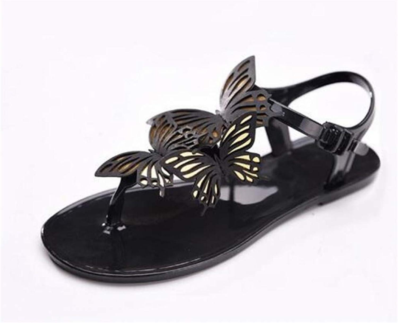 MEIZOKEN Womens Bowtie Flip Flops Jelly Sandals Summer Beach Ankle Strap Thong Flat shoes