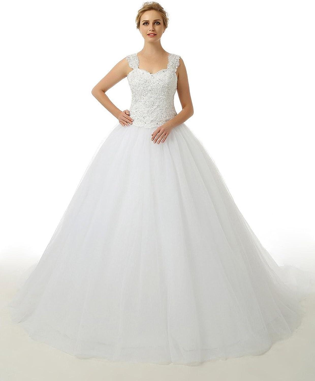 HONGFUYU Women's Vintage Ball Gown Wedding Dresses Bridal Wedding Gown
