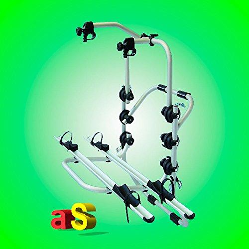 autoSHOP AF1802-EL Portabicicletas trasero de aluminio para 2 bicicletas eléctricas