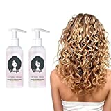 Curls Boost Defining Cream, Natural Frizz Control, Moisturizing Curl Conditioner Cream, Professional Styling Gel,Hair Treatment for Curls, for Wavy & Curly Hair Products(2PC)