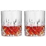 Whiskygläser 11oz (2er Set) Bleifreie Scotch Becher Mundgeblasene Kristalle Perfekt Für Scotch Bourbon Und Old Fashioned Cocktails (Color : Clear, Size : 8×9cm)