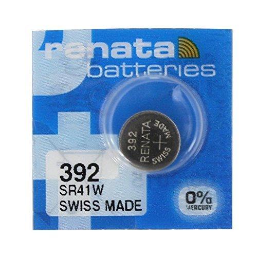 Pila de reloj Renata, 1,55 V, pila de fabricación suiza, 392 SR41W