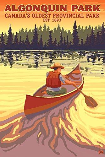 Algonquin Provincial Park, Ontario, Canada (9x12 Art Print, Wall Decor Travel Poster)