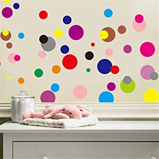 ufengke Polka Dots Wall Stickers Colorful Circle Wall Decals Art Decor for Kids Bedroom Nursery DIY
