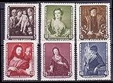 Briefmarken DDR 1957, Mi.Nr. 586-591, Gemälde, Postfrisch
