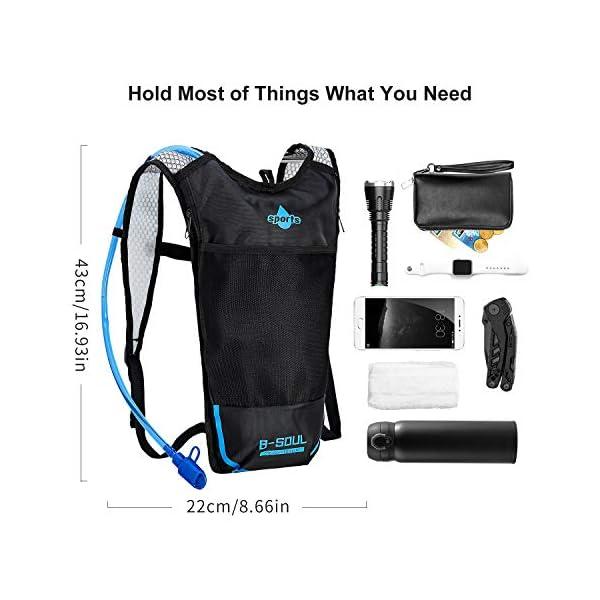 51k7f+jCAHL. SS600  - Shayson Mochila de Hydration-2L Bolsas de hidratación y Unisexo Respirable Ultraligero Mochila de Hombro para Ciclismo…