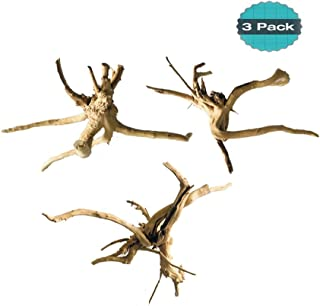 Hamiledyi Driftwood for Aquarium Reptiles Spider Wood Branches Natural Trunk Driftwood Tree Fish Tank Decoration 3 PCS