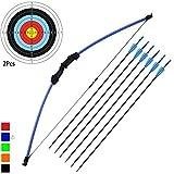 "kaimei 45"" Archery Bow and Arrow Set Start Recurve Bow Outdoor Sports Game"