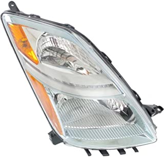Headlight Headlamp Compatible with 2006-2009 Toyota Prius Halogen Type Chrome Passenger Right Side Replacement