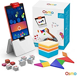 Osmo - Genius Kit for Fire Tablet - 5 Hands-On Learning Games - Ages 6-10 - Problem Solving & Creativity - STEM - (Osmo Fire Tablet Base Included - Amazon Exclusive)