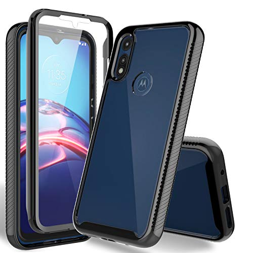 HATOSHI Motorola Moto E 2020 Case with Built-in Screen Protector, Heavy Duty Protection, Crystal Clear Back, Full-Body Shockproof Rubber Bumper...
