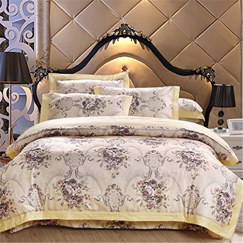 GHL.YTE Pink Purple Bedding Set Queen King Size Bed/Fitted Sheet Set Cotton Bed Set Duvet Cover Juego/Ropa De Cama Parure De Lit bedding set 4 Bed sheet style Queen size 4pcs