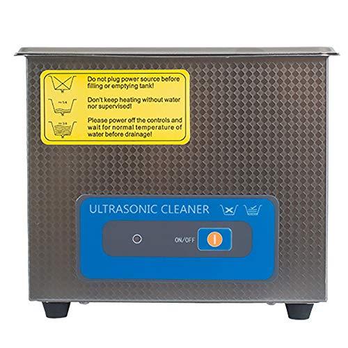 LNLN 1.3L Mini Ultraschall-Reinigungsmaschine Mit Edelstahl-Wassertank, Edelstahl-Korb, Schmuck Waschmaschine, Brille Prothese Autoteile Hardware-ZubehöR
