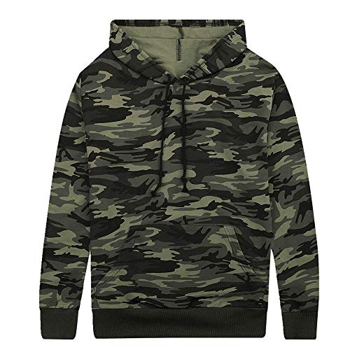 NOBRAND Frühling Pullover Herren Strickjacke Camouflage Kapuzenpullover New Sports Fashion Coat Gr. Medium, grün