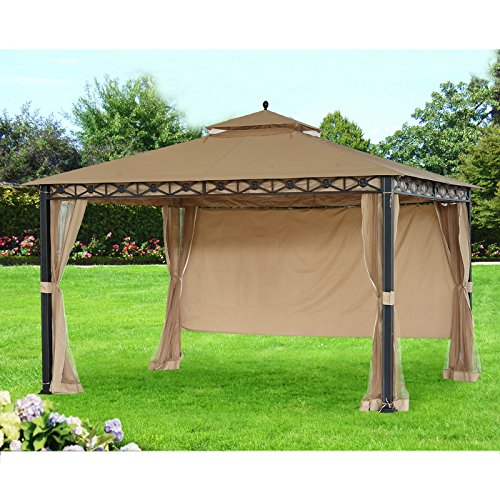 Sunjoy Replacement Canopy (Deluxe Fabric) for 10x12ft Smith and Hawken Gazebo -  110109173