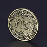 Novelty YES NO Letter Ornaments Challenge Coins, Decision Maker, Jewelry Quality