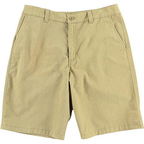 O'Neill Mens Encounter Relaxed Fit Slub Casual Shorts Tan 30